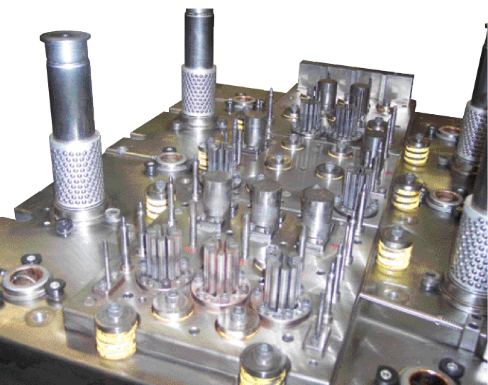 Oberg specializes in stamping motor laminations, from dies such as this