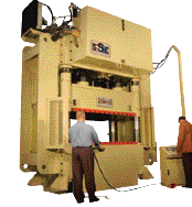 Hydraulic deep-draw presses