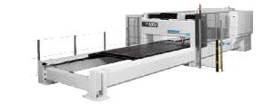 Laser-cutting machine for large sheet
