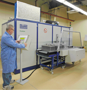 Replaces its aqueous parts-cleaning machines with nonchlorinated-hydrocarbon cleaning system