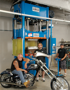 OCC uses a new 350-ton Beckwood hydraulic press