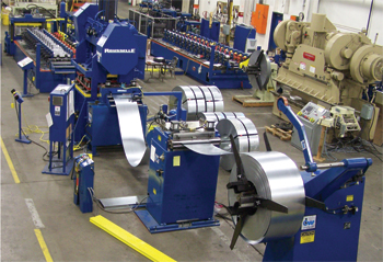 Note the length of this rollforming line
