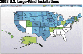 Map shows large-wind capacity