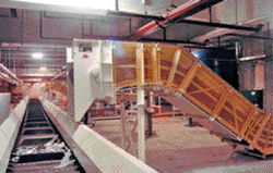 Press lines are interlocked to a main scrap conveyor