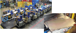 This Chaku-Chaku production line completes drawer-front forming operations