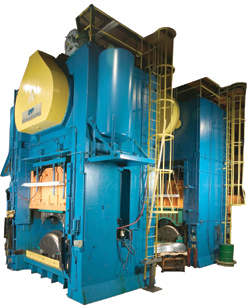 Gm operates 70 stamping presses to produce a variety of Ag parts.