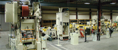 Press line inclueds a knurling machine