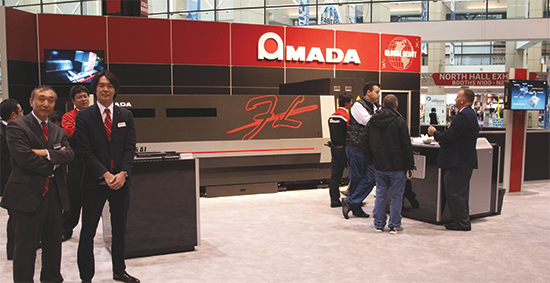 Amada's Ensis-3015AJ high-power fiber laser