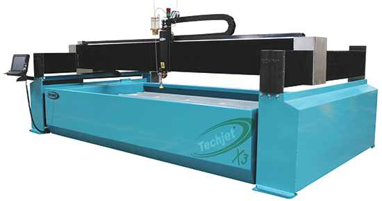 TJ4100-G-X3 gantry-style waterjet-cutting machine