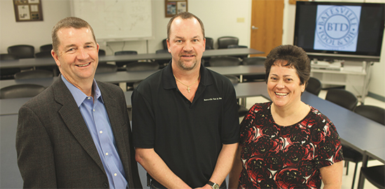 Batesville Tool and Die's co-op program, Jody Fledderman, Joel Fledderman and Carla Enzinger