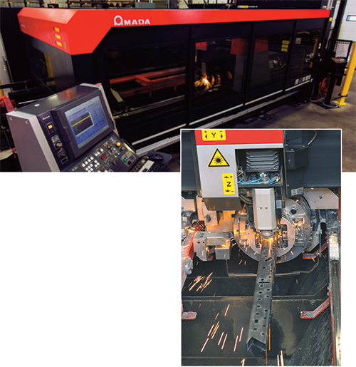Amada FOM2RI 3015 laser-cutting machine with rotary index station