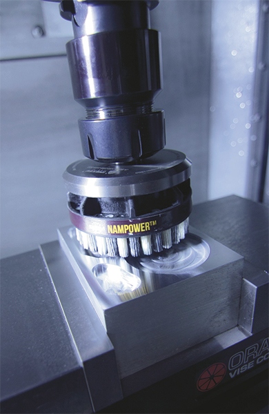The unique combination of automated deburring and surface finishing eliminates several time-consuming and laborious processes at Orange Vise.