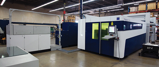 In December 2013, Sure added this Trumpf TruLaser 5030 5-kW solid-state laser-cutting machine to its stable, in part to allow it to take on thicker work and expand into new markets.