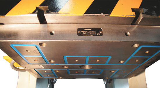 Force from the magnetic clamping system