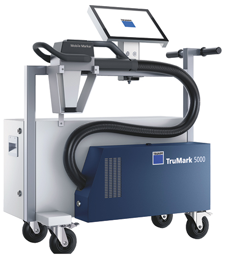 portable laser-marking unit from Trumpf