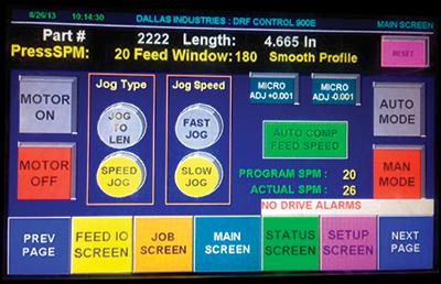 Dallas Industries Servo-feed press feed control