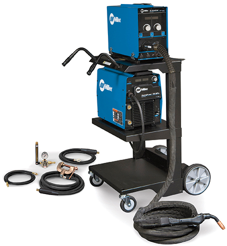welding systems designed for specific applications, such as pipe welding or robotic welding for for use with certain base materials such as aluminum
