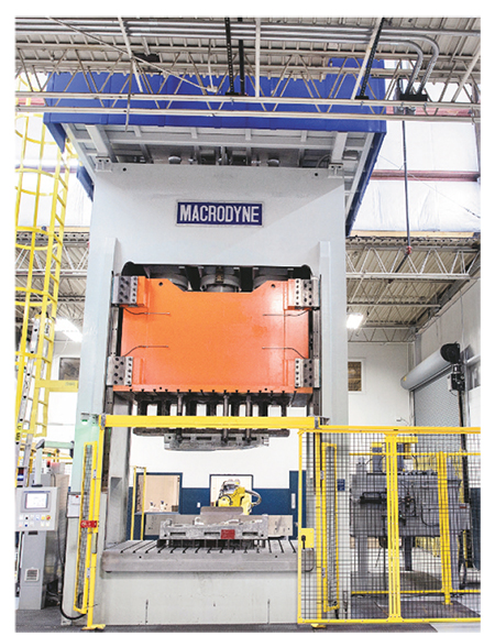 600-mton press anchoring the new manufacturing cell at Experi-Metal