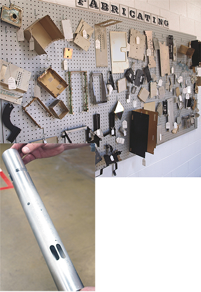 Tella Tool's display of fabricating work