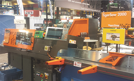 TigerStop cross-cutting saw