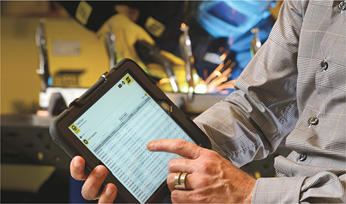 Esab online welding-data management system