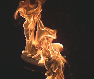 mineral oil fire can spread quickly