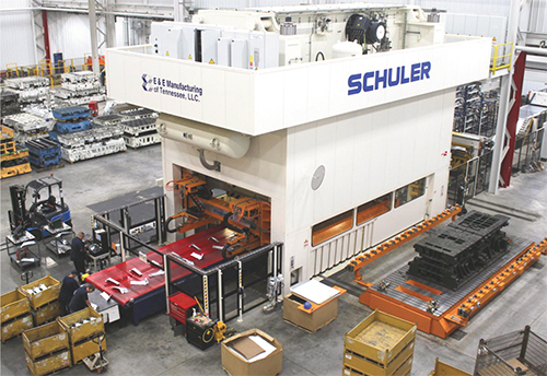 In July Of This Year E Added A Second Bed Schuler Transfer Press One 2000 Metric Ton Beast With 7300 By 2500 Mm Among Its Ing Points