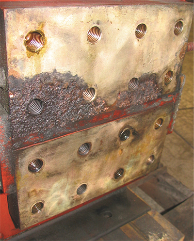 Remaching surfaces may be required to restore full power to the welding machine