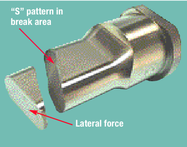 Uneven galling is an indication of misalignment.