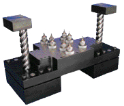 In-die tapping units and tap-lube system