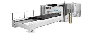 Laser-cutting machine for large sheet