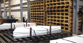 Taylor Coil Processing proveds a pallet-transfer service for custom blanks