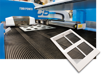 A major feature of this neww turret punch press is to upform louvers in heater grilles.