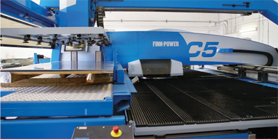 automatic sheet loader on its C5 CNC turret punch press
