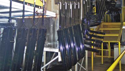 Rollformed fuel-tank brackets