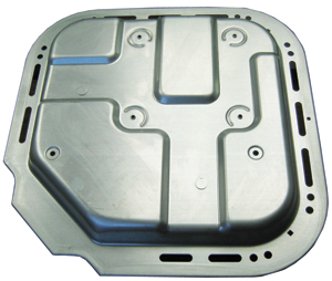 Wright Industries designed and built a transfer die to produce this complex part.