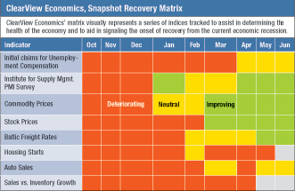 ClearView Economics Snapshop Recovery Matrix