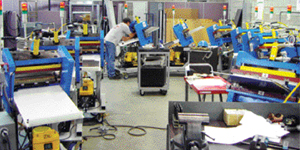 To utilize the Chaku-Chaku process, machines are configured in a U-shape production cell