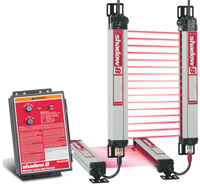 Factory-reporting software safety light curtains