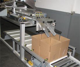four separate conveyor lanes