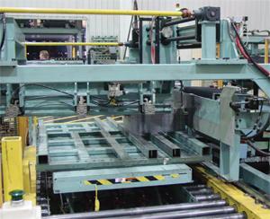400-ton blanking press