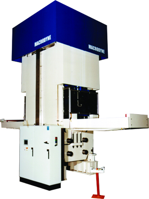 The aerospace industry is using hydraulic presses with associated advanced control systems
