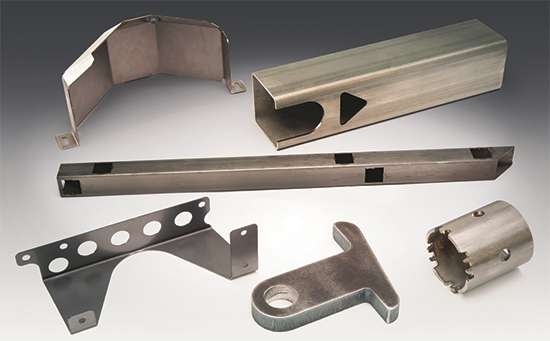 variety of sheet, plate and structural parts from carbon and stainless steels and aluminum alloys