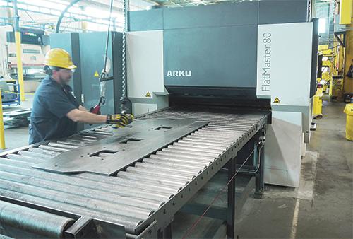 leveler helps fabricator meet tight flatness specs