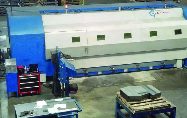Cy Laser 2.5-kW fiber-laser cutting machine