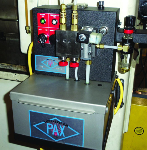 Pax 2-2 pre-pressurized lubrication system
