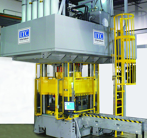 Production hydroforming press