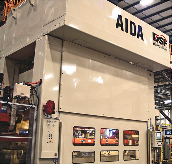 Aida servo-driven transfer press