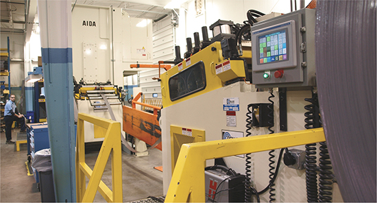 ATD outfitted its new coil line, which delivers material to a new servo press, with two complete and independent line-control stations, one at each end of the line. This saves operator steps and makes the setup process as efficient as possible.