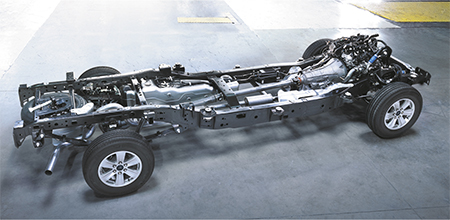 frame of Ford F-150